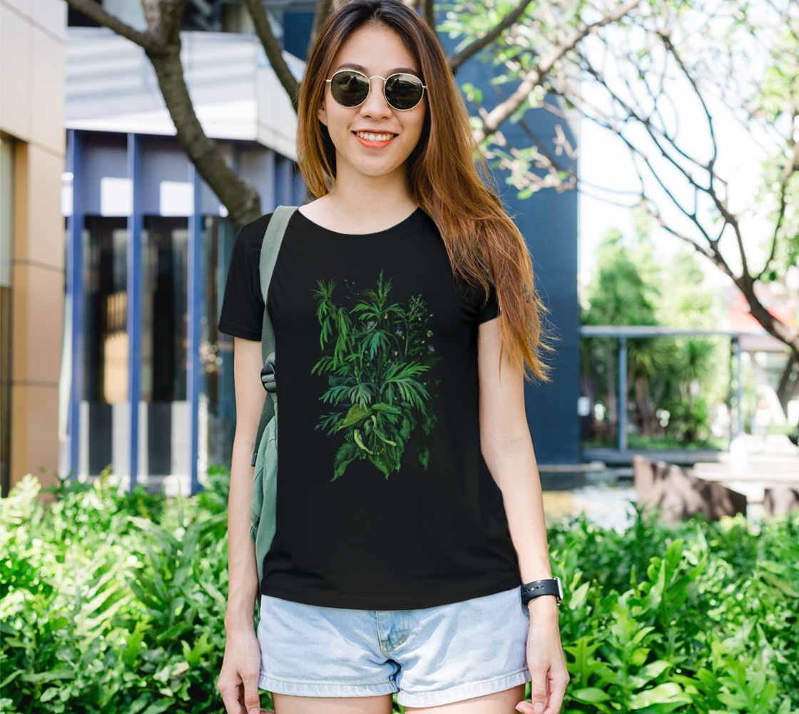 Green & Black Summer Herbs Weed Wild Flowers Floral Botanical Art preview