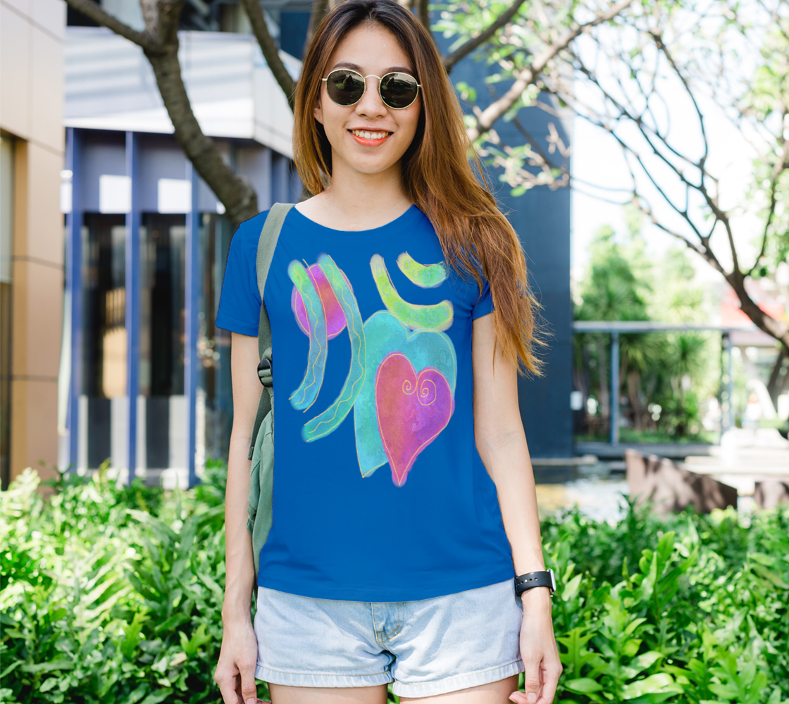 2 Hearts Abstract Art to Wear preview #1