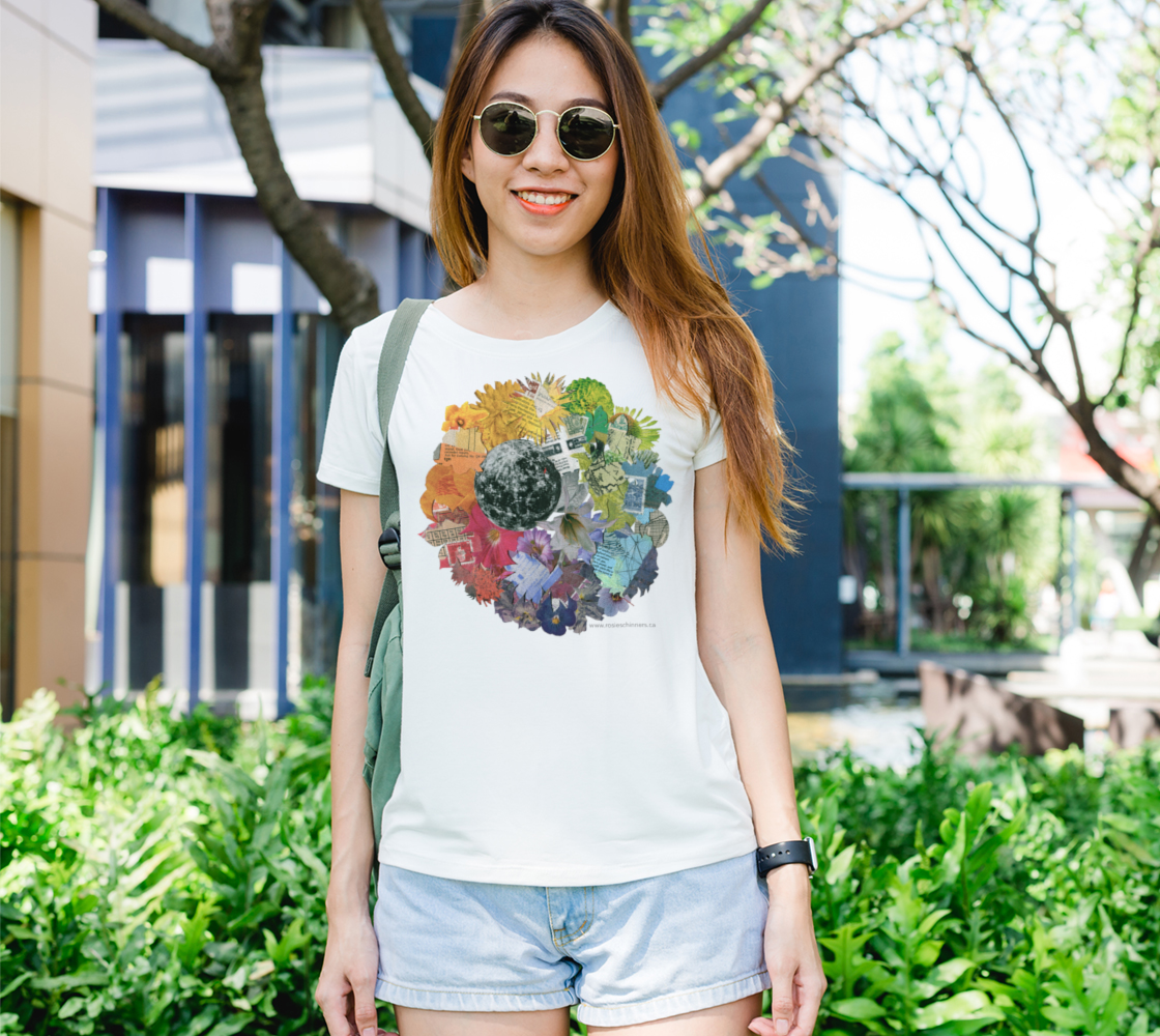 Moon Wheel - Women's Fit T-Shirt, White preview
