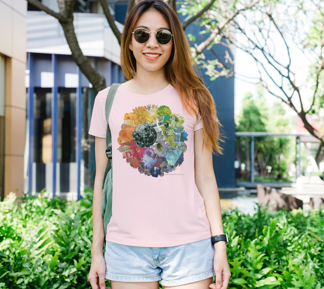 Moon Wheel - Women's Fit T-Shirt, Pink preview