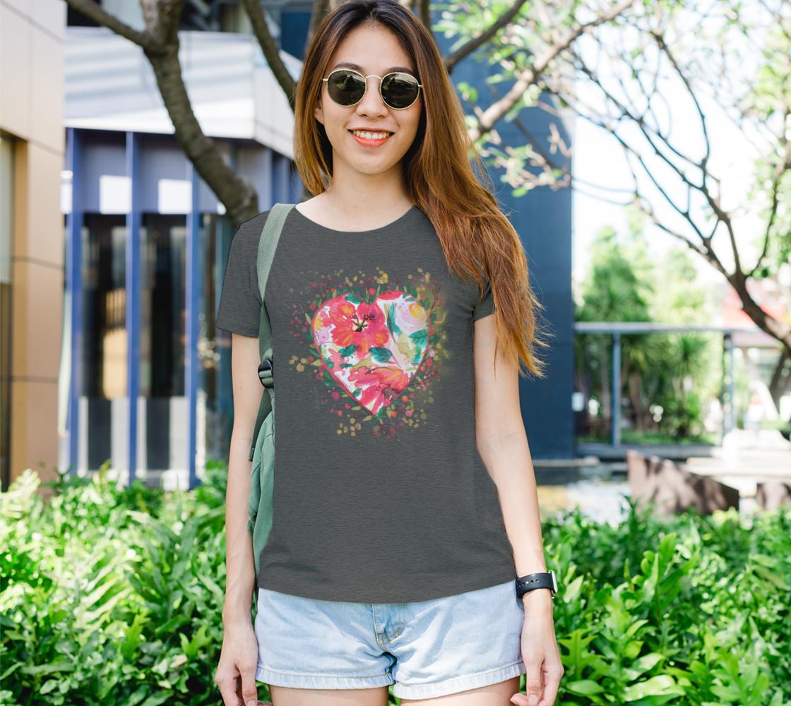 Aperçu de Tee-shirt femme Cœur d'amour