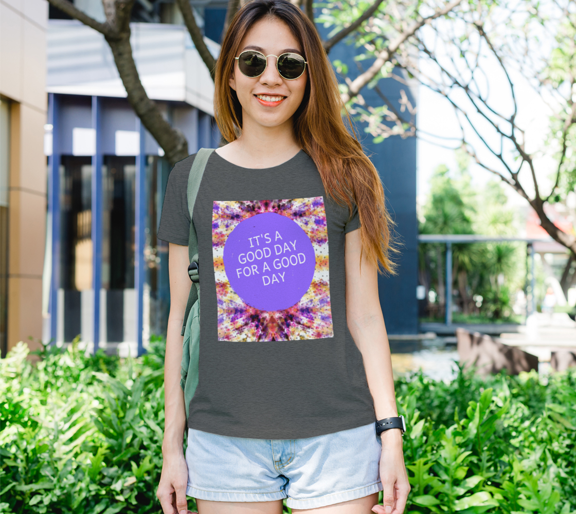 Vintage TDye Galaxy Quote Women's Tee preview