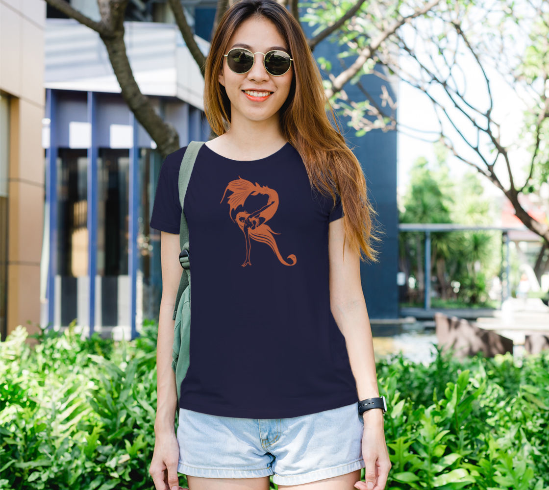 "Raina ""R"" Logo in Orange Women's T preview"