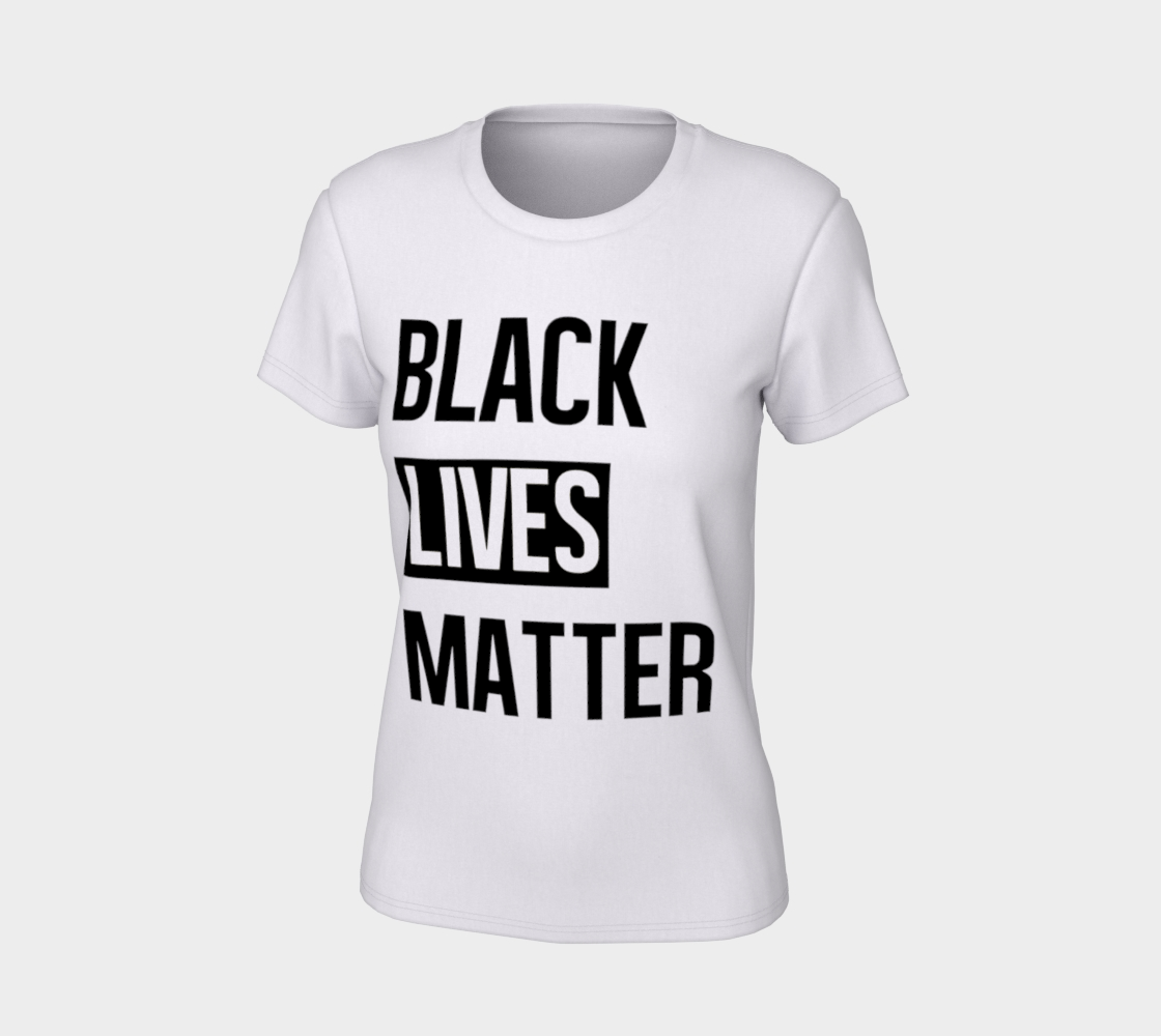 Black Lives Matter Bold BLM Typography Women's Tee, AOWSGD preview #7