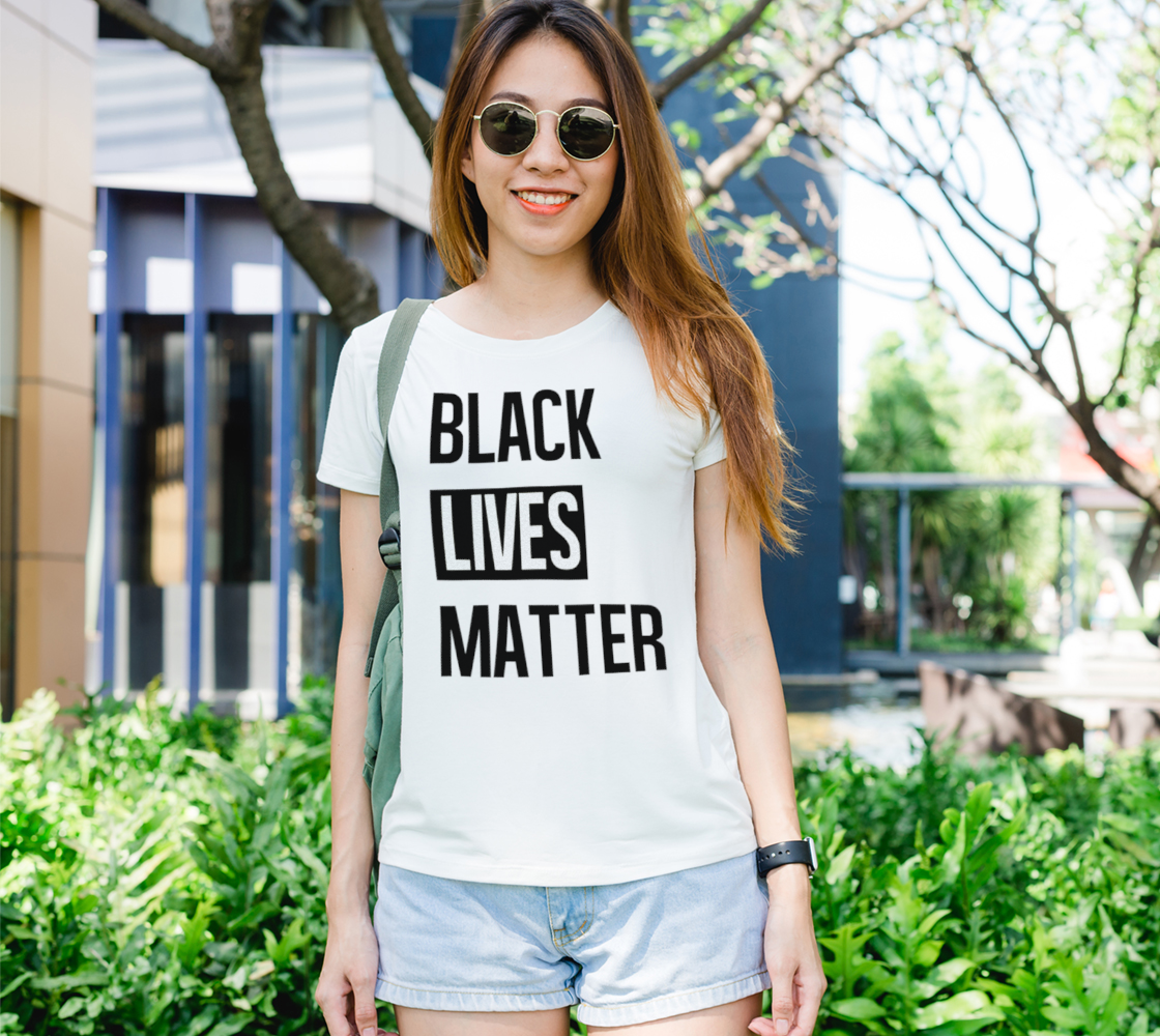 Black Lives Matter Bold BLM Typography Women's Tee, AOWSGD preview