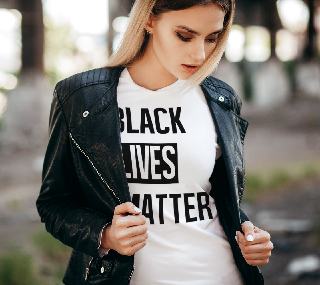 Black Lives Matter Bold BLM Typography Women's Tee, AOWSGD preview #2