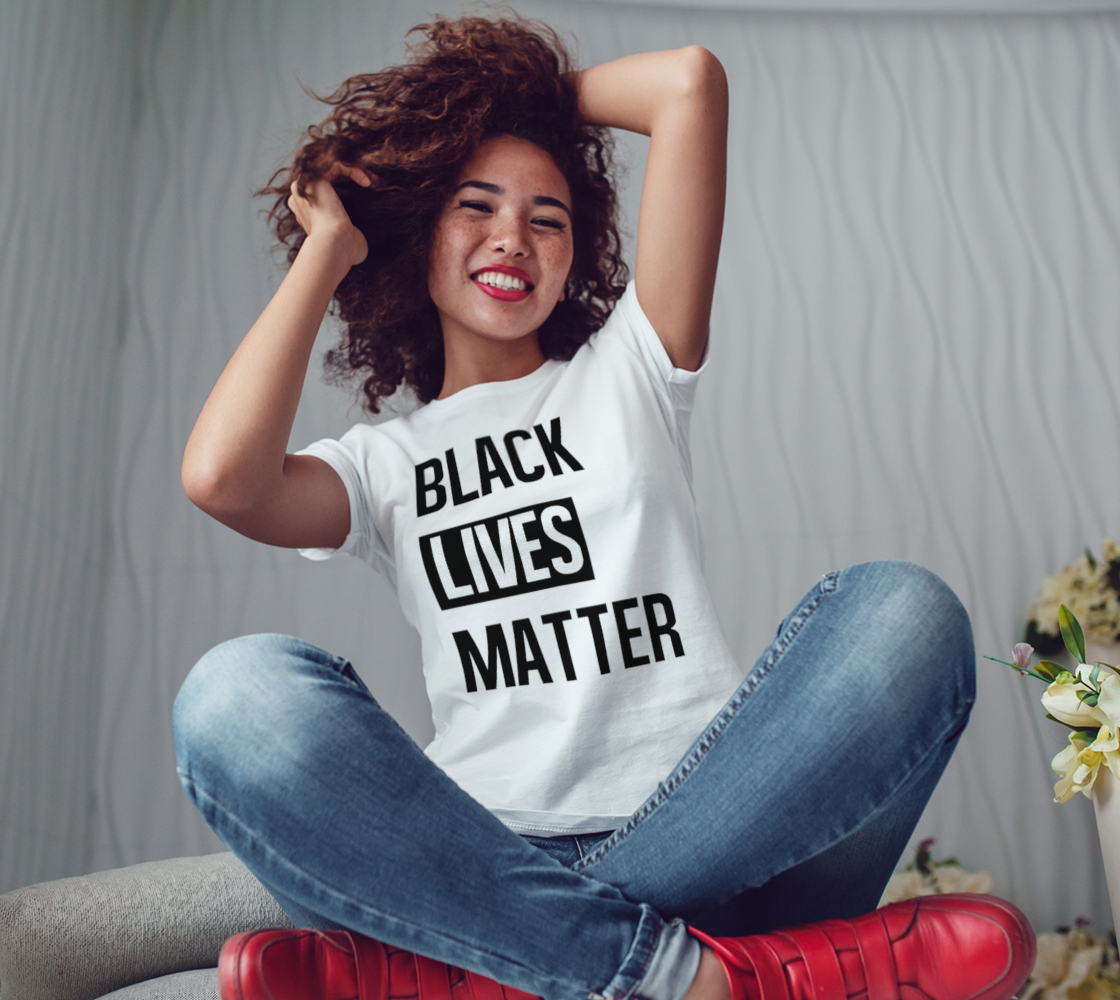 Black Lives Matter Bold BLM Typography Women's Tee, AOWSGD preview #3