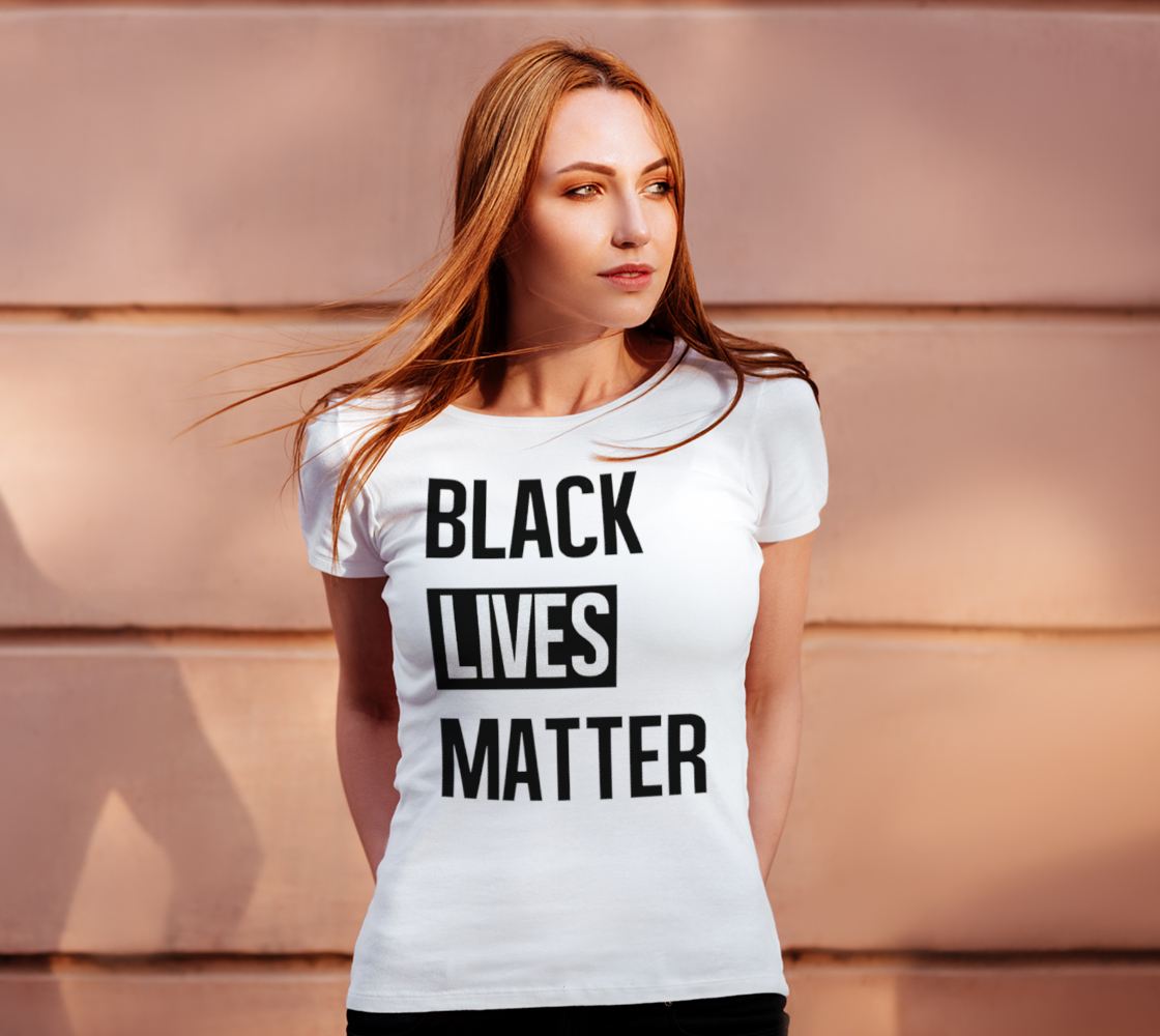 Black Lives Matter Bold BLM Typography Women's Tee, AOWSGD preview #4