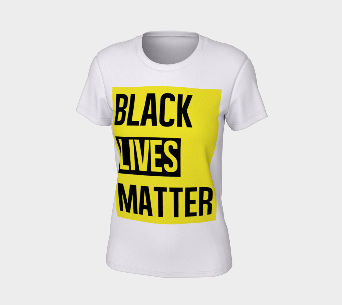 Black Lives Matter Bold Quote Yellow Background Women's Tee, AOWSGD thumbnail #8