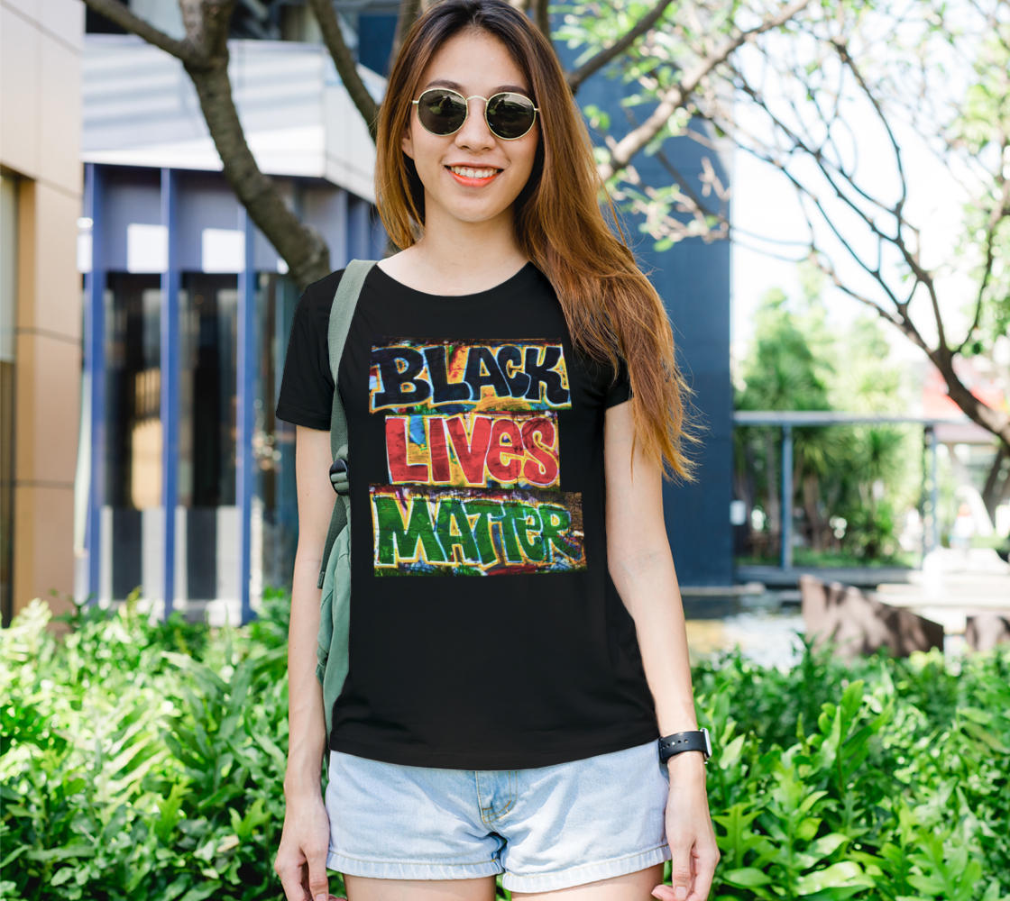 Aperçu de Black Lives Matter Graffiti Wall Women's Tee, AOWSGD