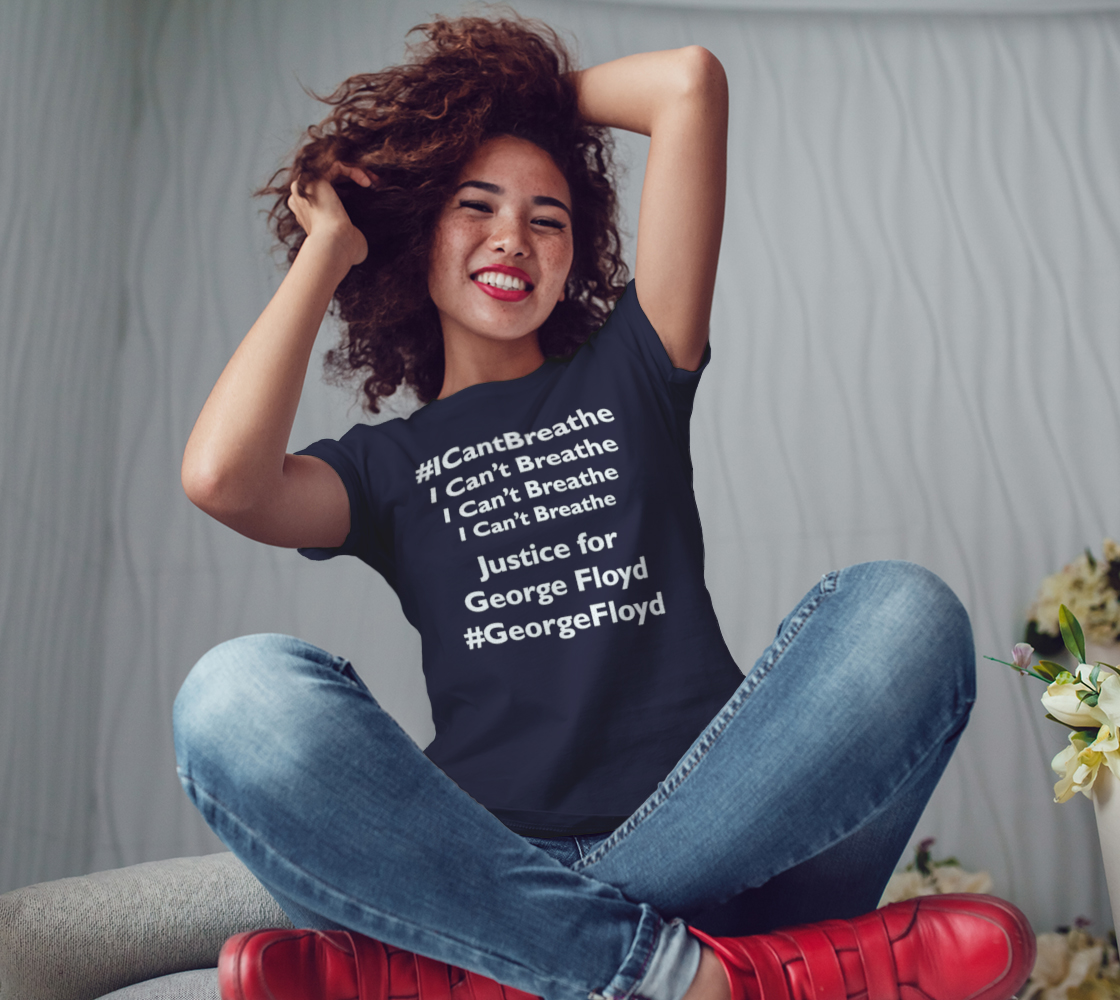 I Can't Breathe George Floyd Last Words BLM Women's Tee, AOWSGD preview #3