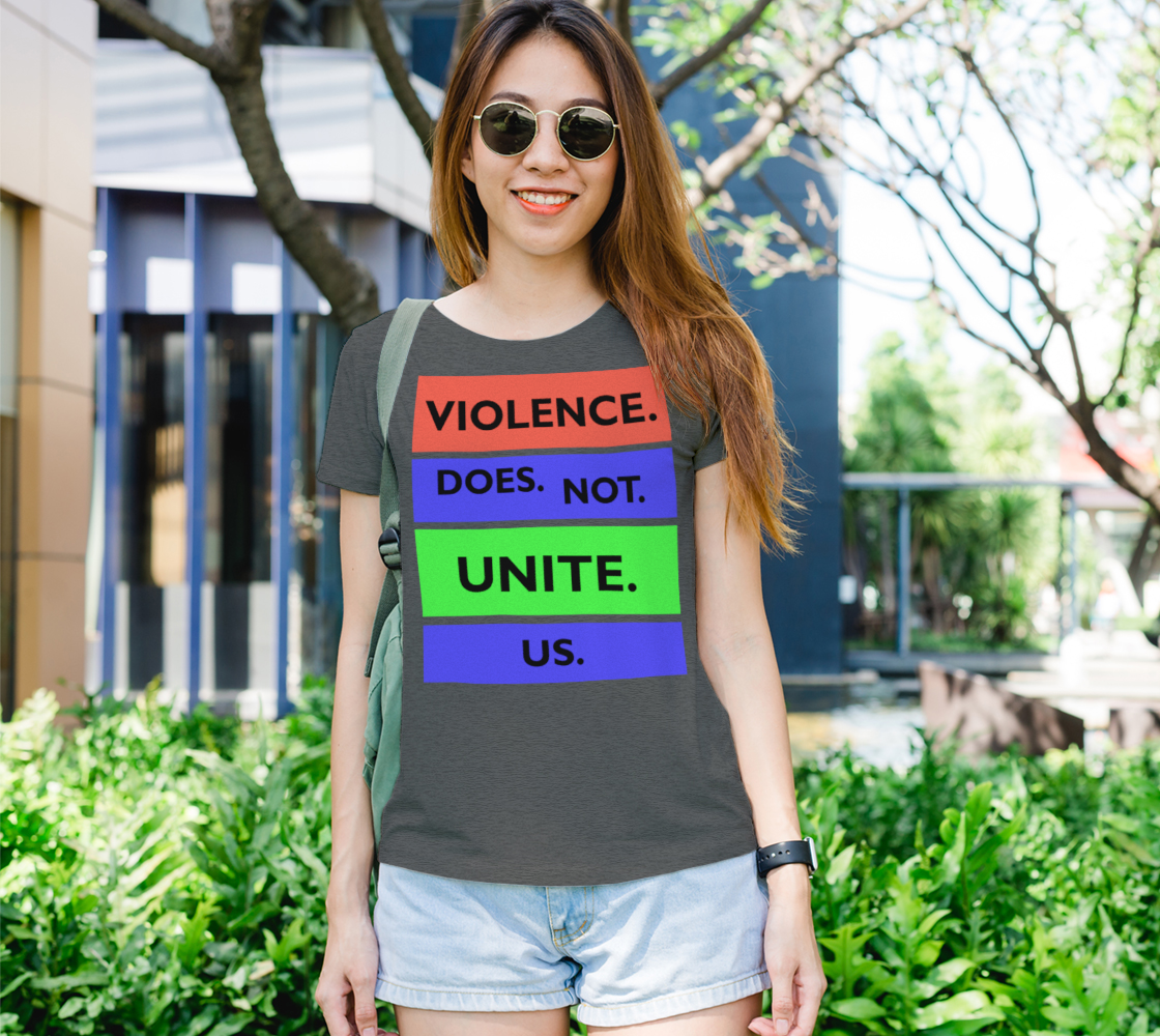 Aperçu de Violence Does Not Unite Us Period Women's Tee, AOWSGD