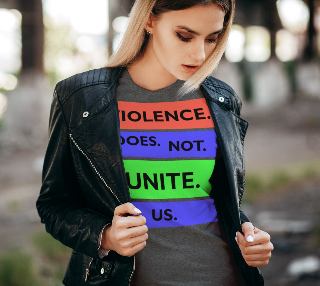 Violence Does Not Unite Us Period Women's Tee, AOWSGD preview #2