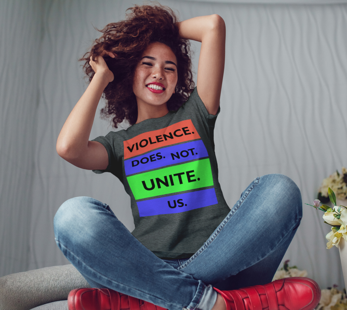 Violence Does Not Unite Us Period Women's Tee, AOWSGD preview #3