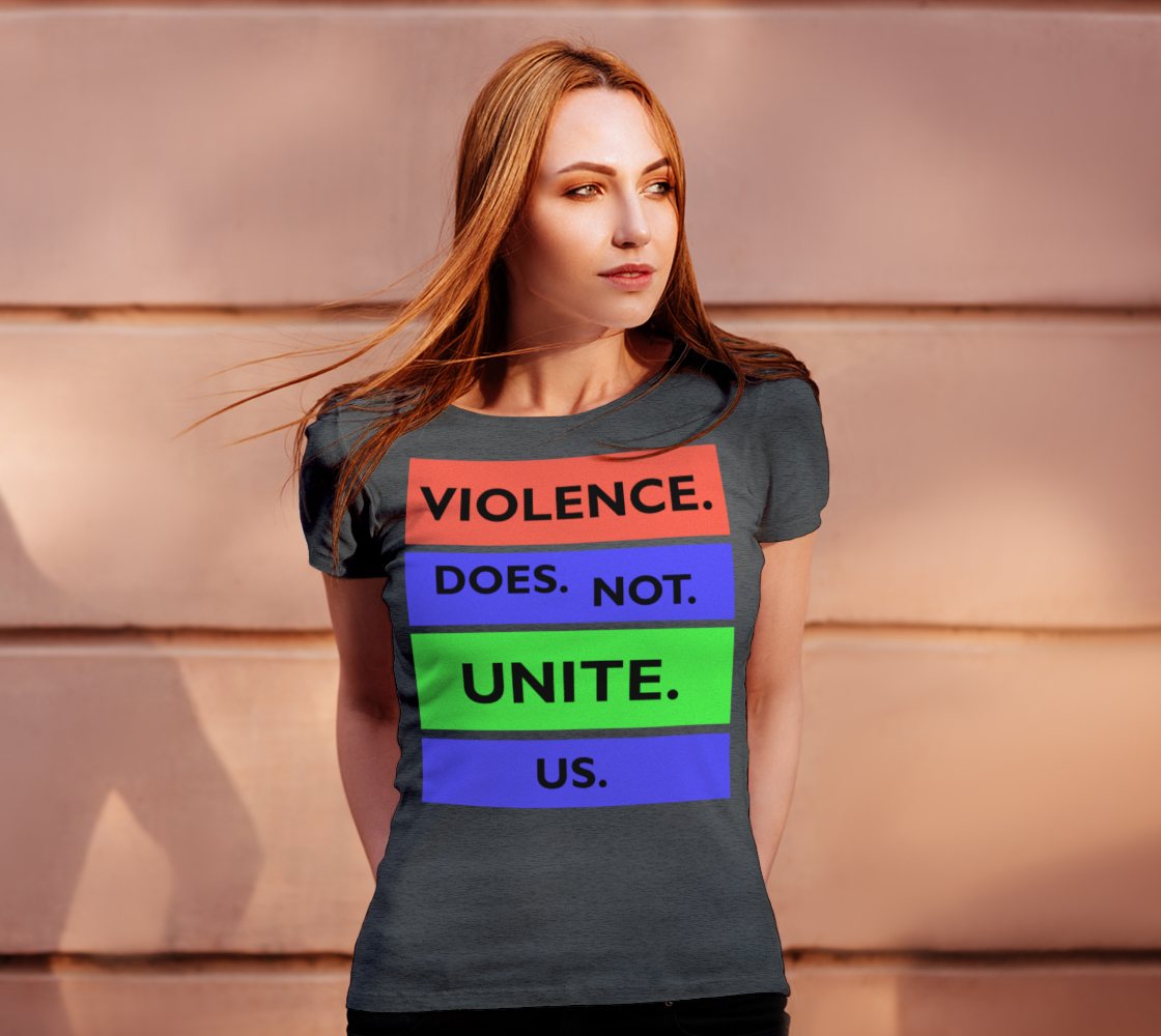 Violence Does Not Unite Us Period Women's Tee, AOWSGD preview #4