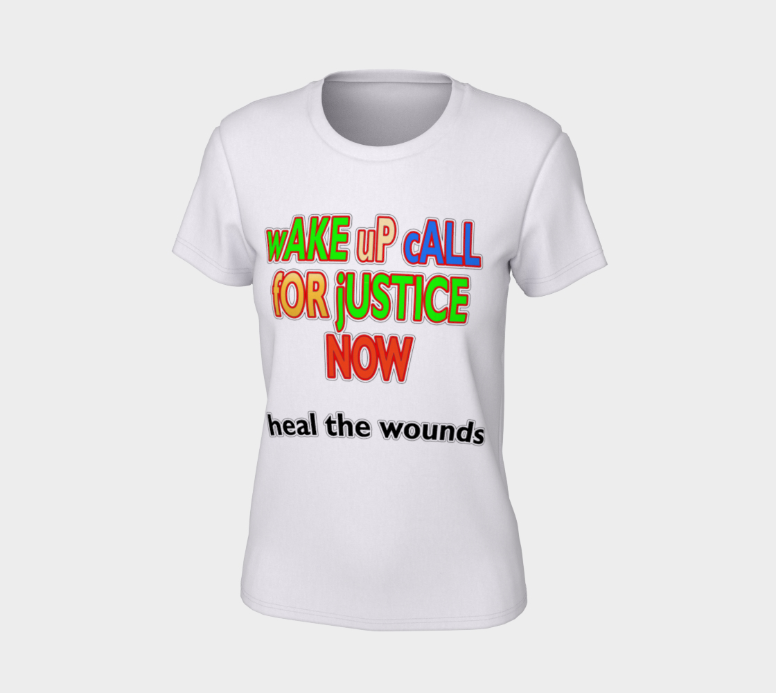 Wake Up Call for Justice Heal the Wounds Women's Tee, AOWSGD preview #7