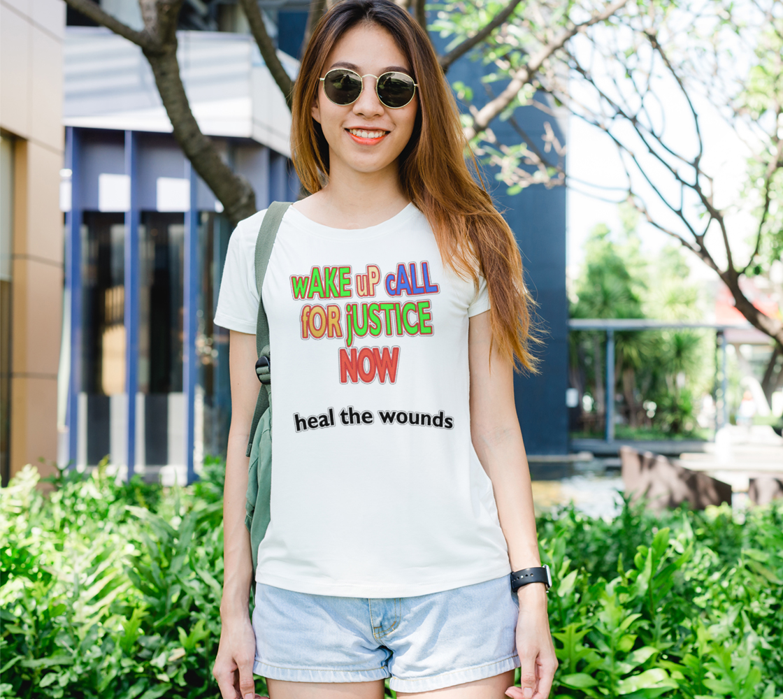 Aperçu de Wake Up Call for Justice Heal the Wounds Women's Tee, AOWSGD