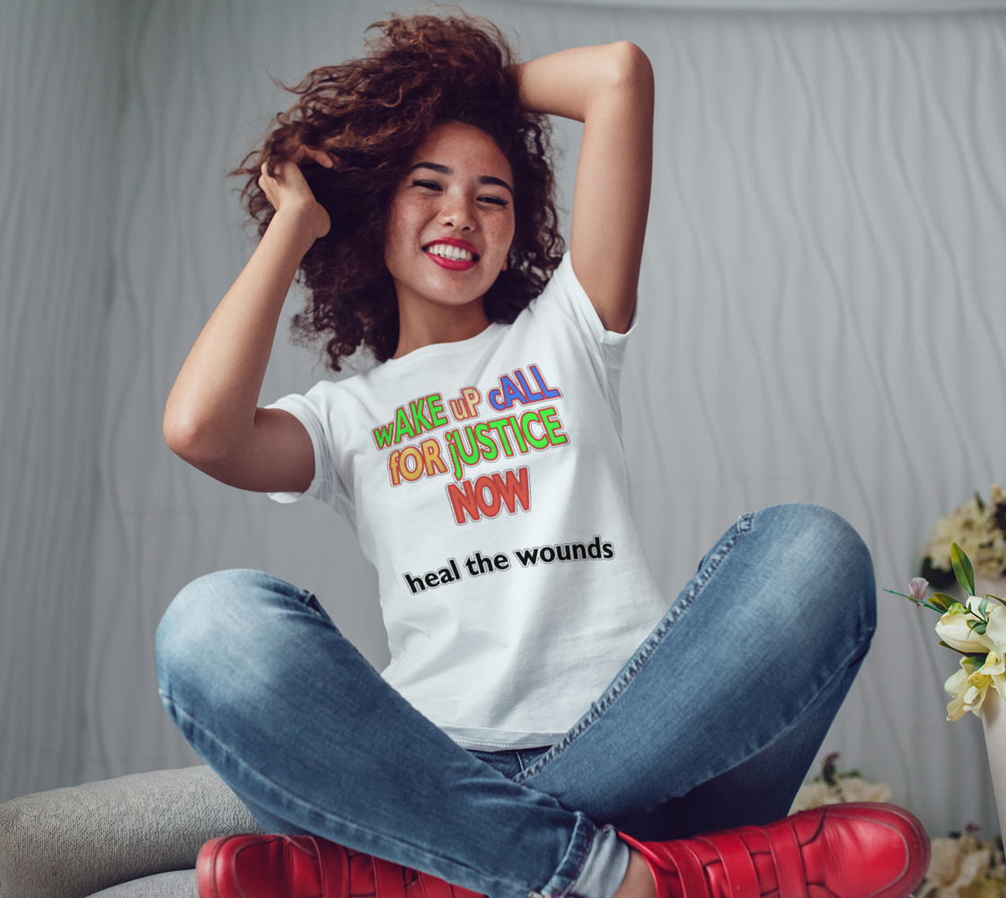 Wake Up Call for Justice Heal the Wounds Women's Tee, AOWSGD preview #3