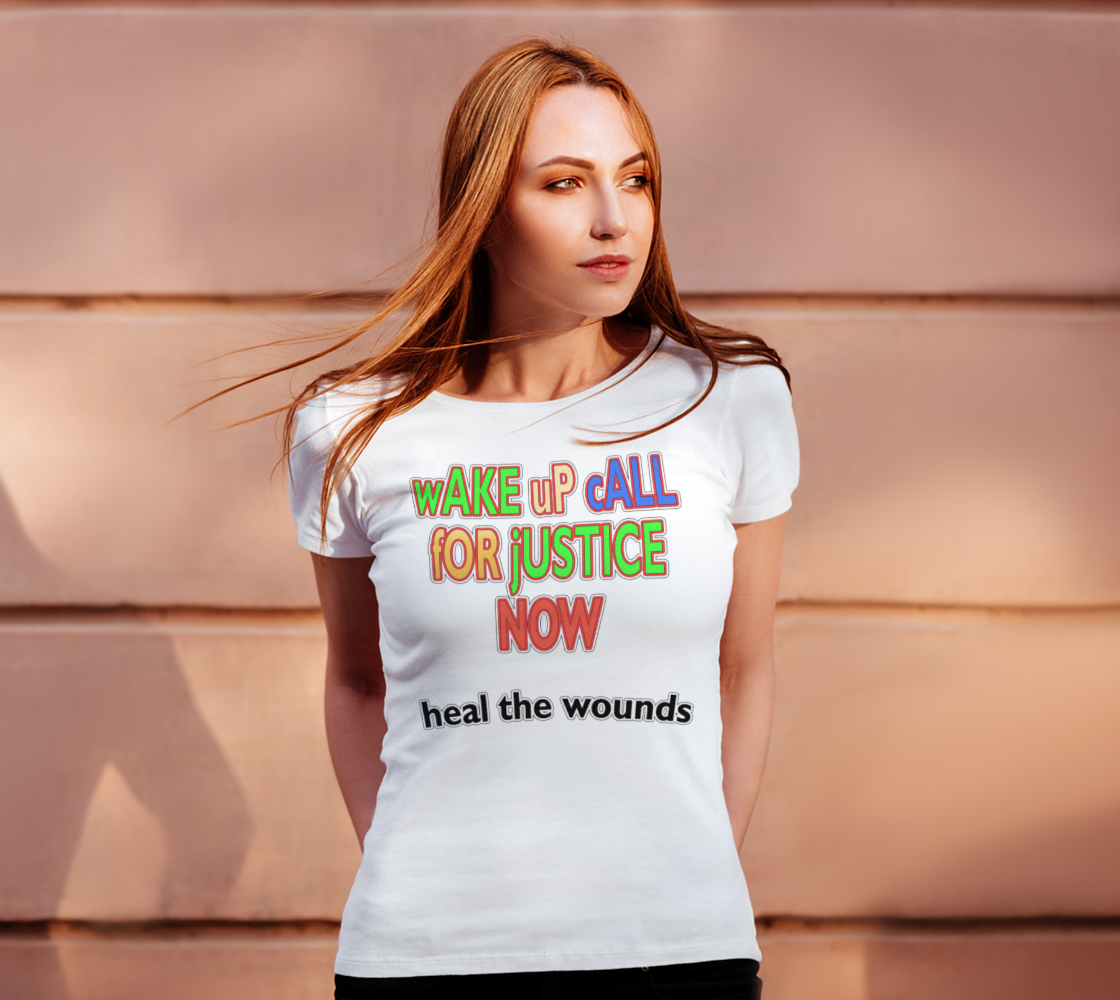 Wake Up Call for Justice Heal the Wounds Women's Tee, AOWSGD preview #4