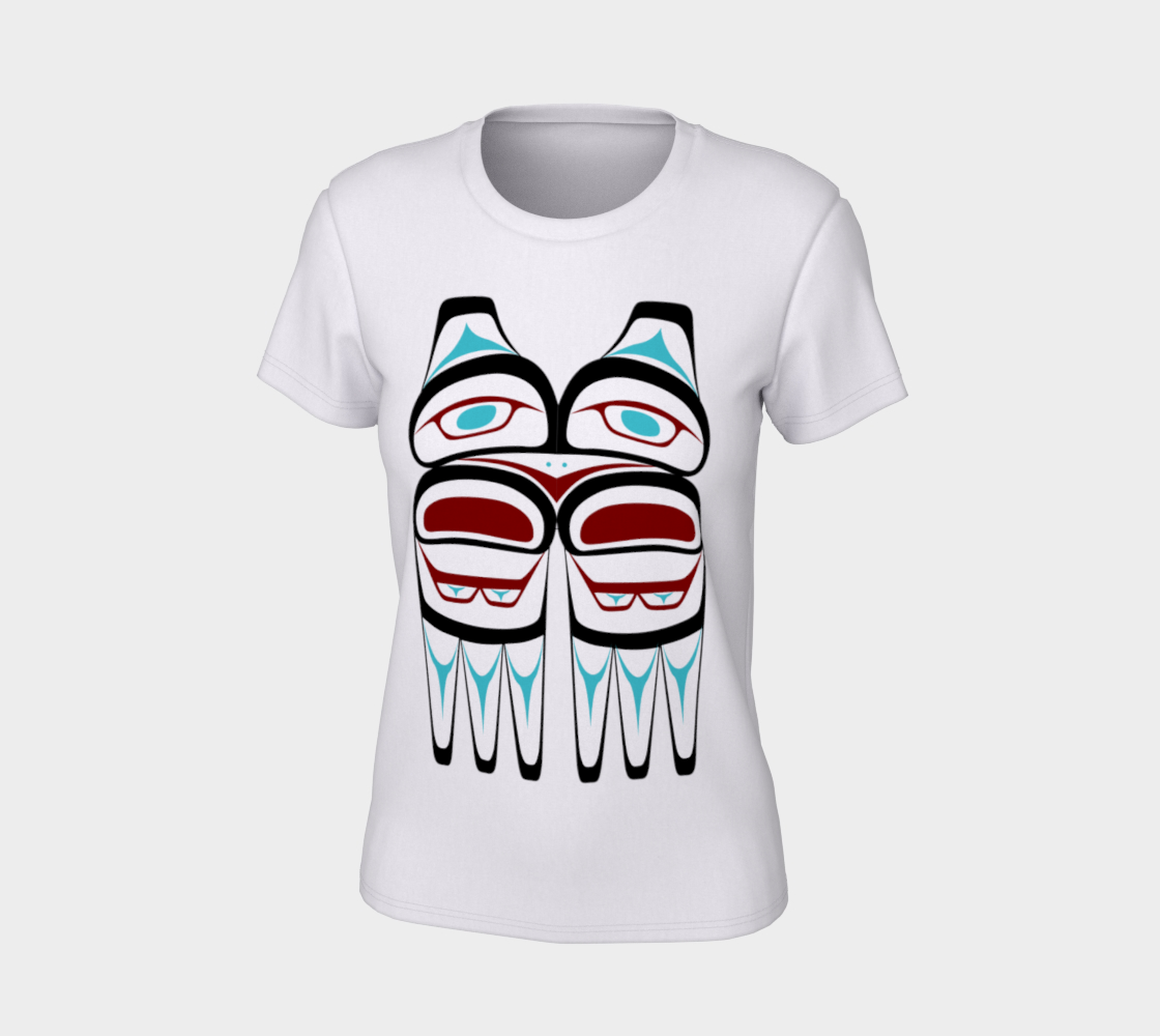 Northwest Native Owl T Shirt Formline Art Large Print Area preview #7
