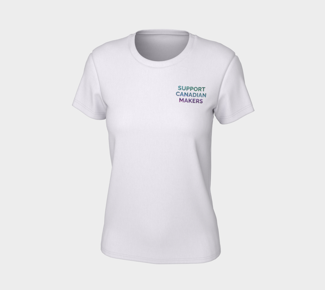 Support Canadian Makers - white tee, multicolour text preview #7