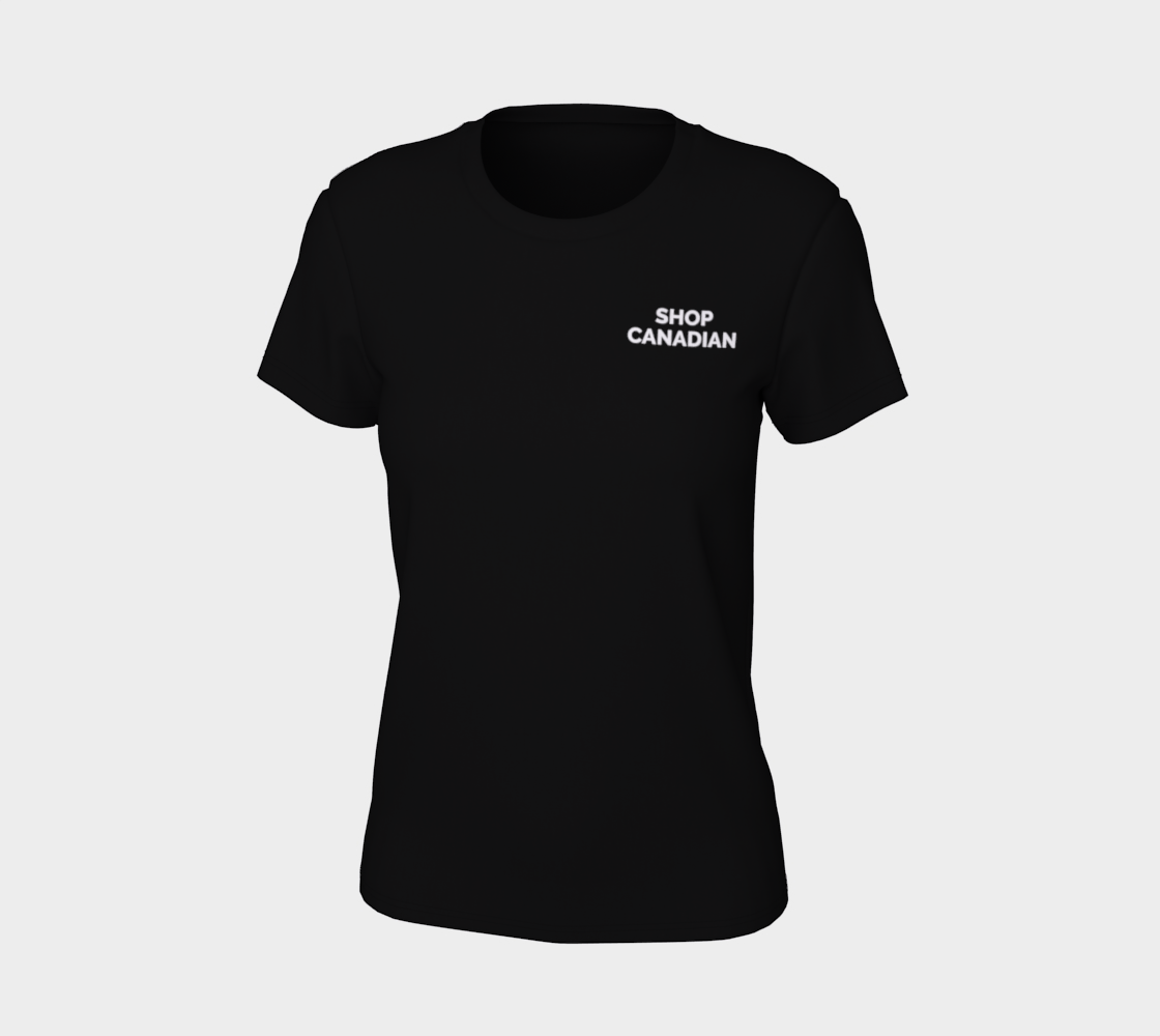 Shop Canadian - dark tee, white text preview #7