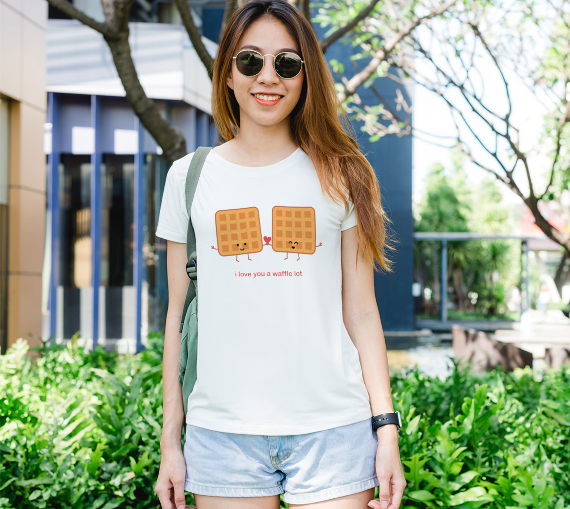 I Love You a Waffle Lot Women's Tee preview
