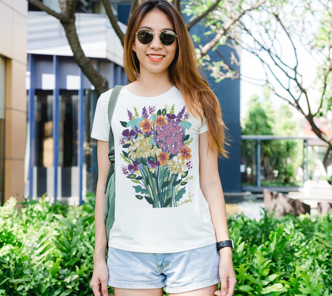 Aperçu de T-shirt femme Fleurs songeuses