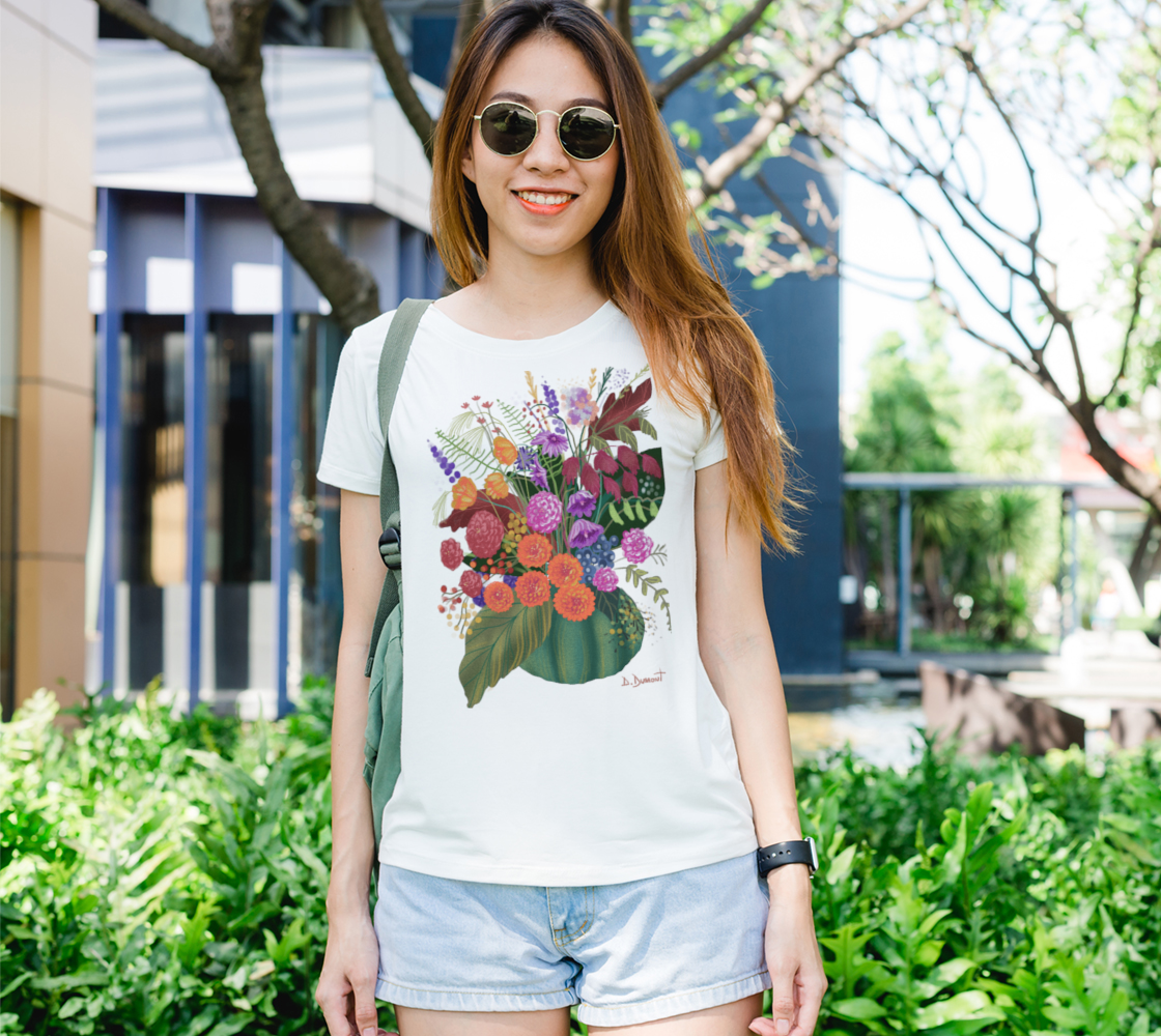 Aperçu de T-shirt femme Bouquet d'automne