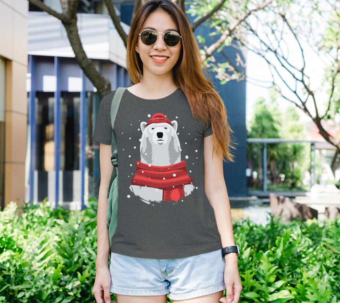 Aperçu de Polar bear in red hat and scarf