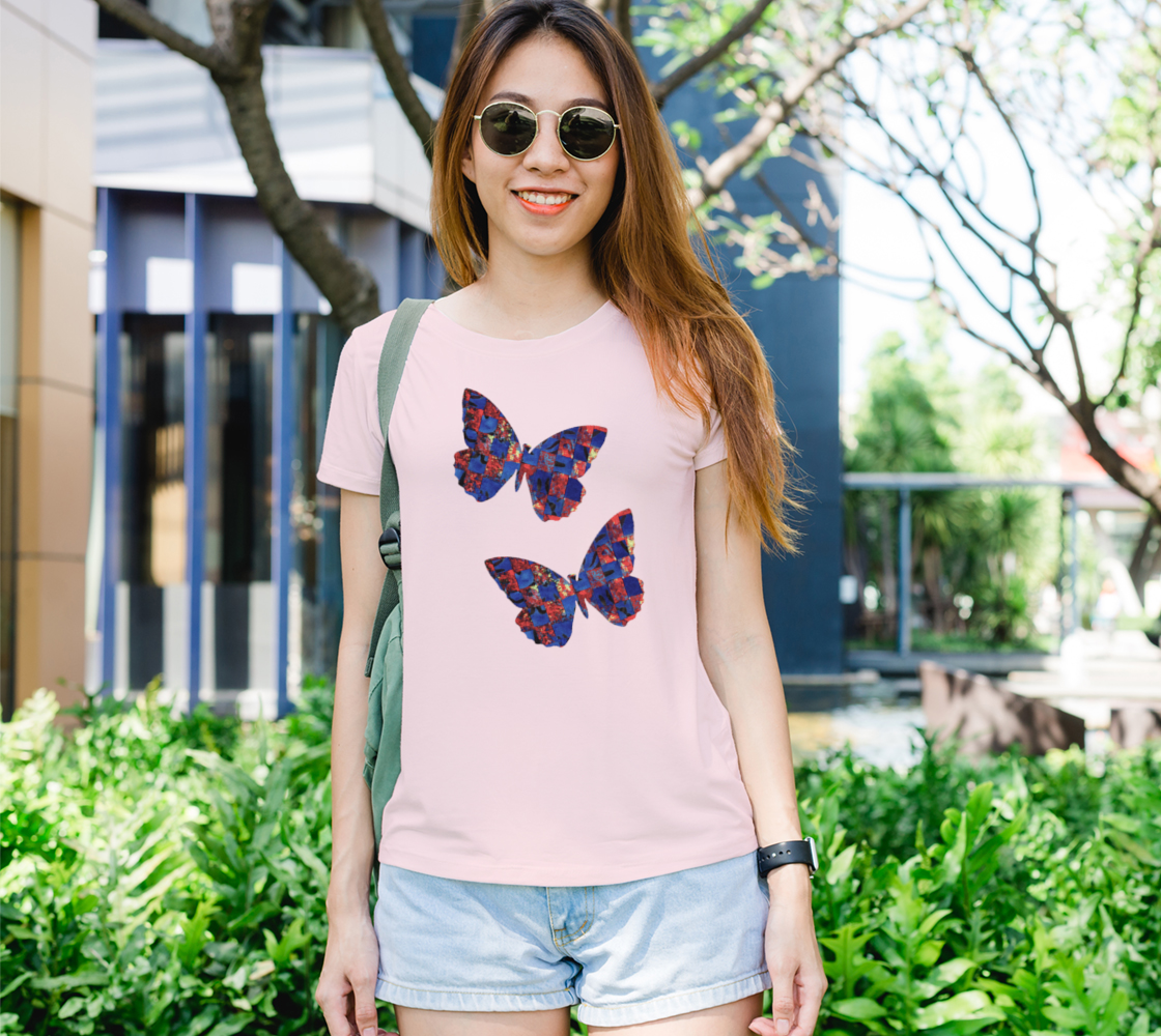 Woven Butterfly in Red and Blue preview