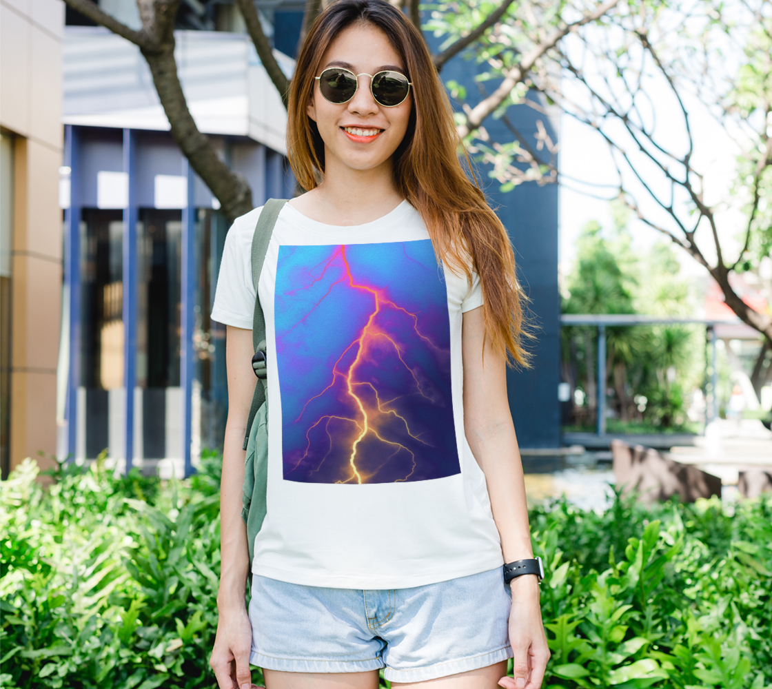 Lightning Colors in Blue Sky, graphic art preview