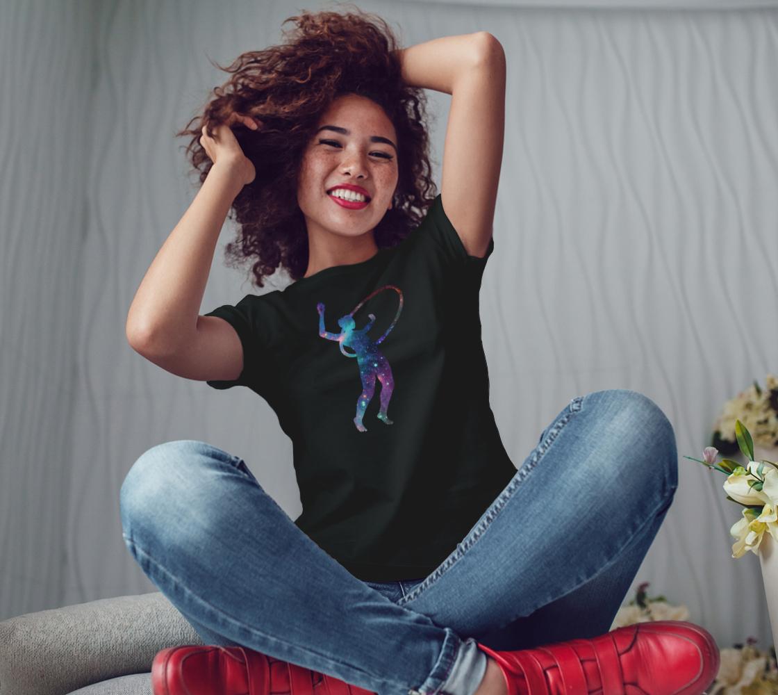 Hula Hoop Galaxy Flow Arts Teeshirt preview #3