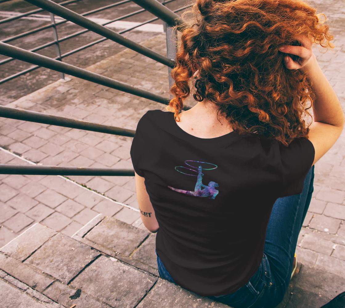 Hula Hoop Galaxy Flow Arts Teeshirt preview #6