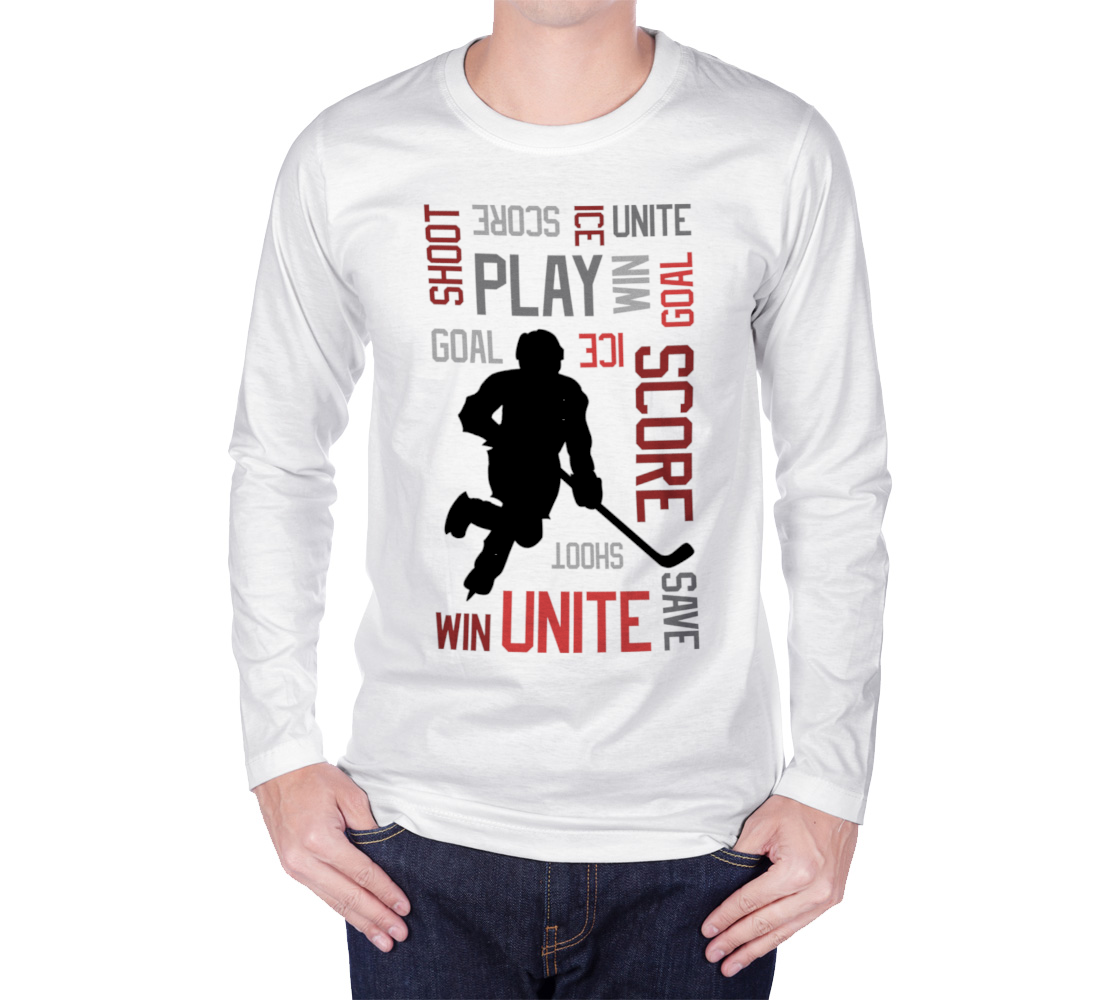 For the Love of Hockey Long Sleeve T-shirt - Red preview