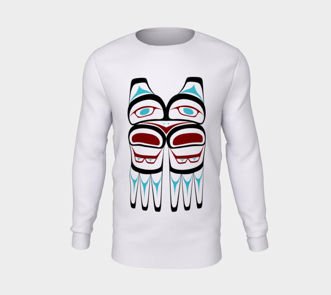 Tlingit Northwest Totem Art on White Long Sleeve T-Shirt preview #5