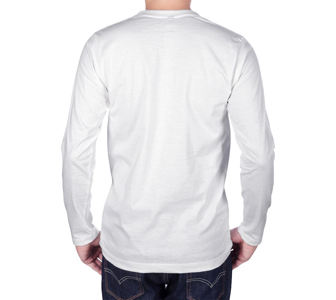 Tlingit Northwest Totem Art on White Long Sleeve T-Shirt preview #2