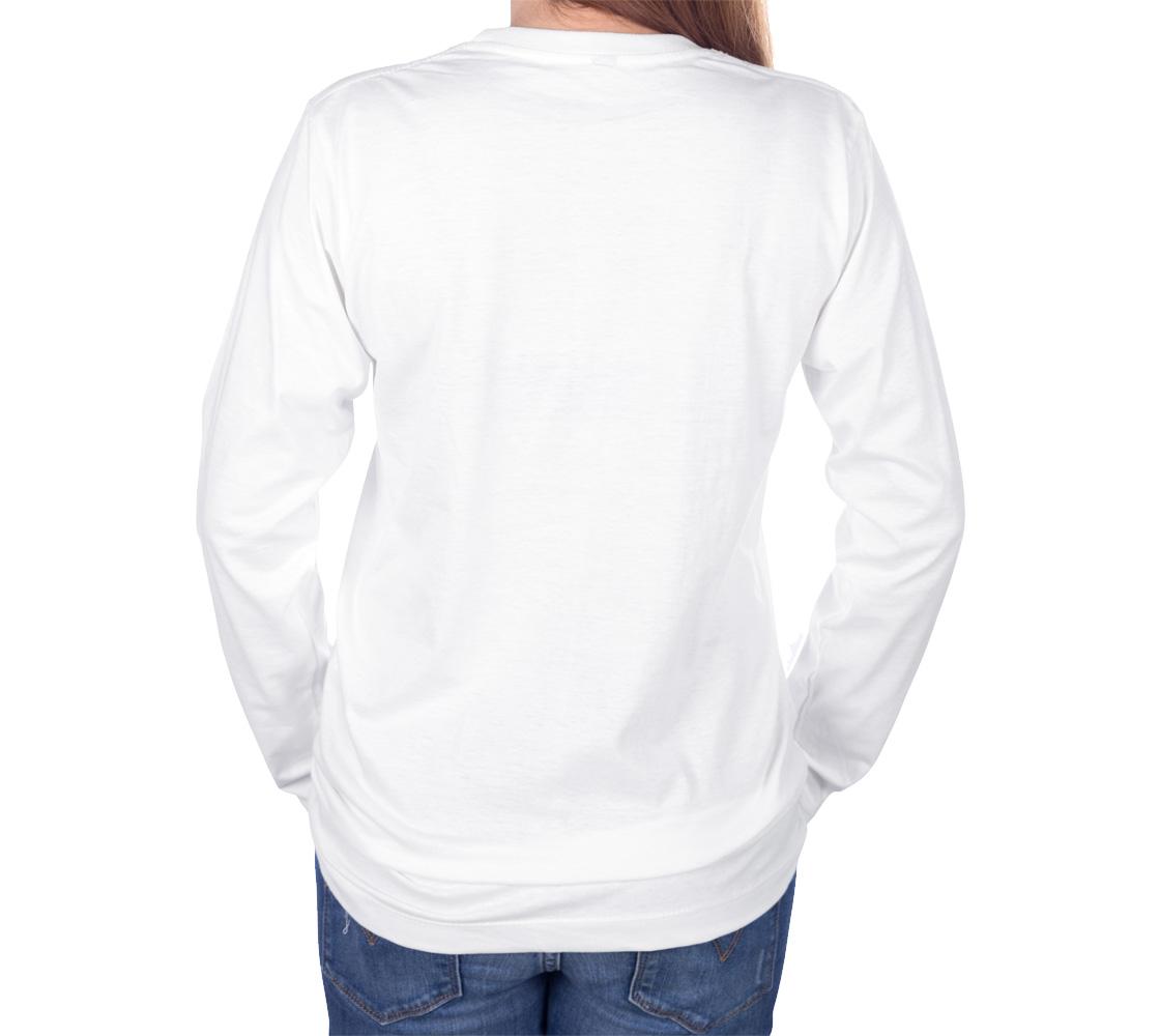 Tlingit Northwest Totem Art on White Long Sleeve T-Shirt preview #4