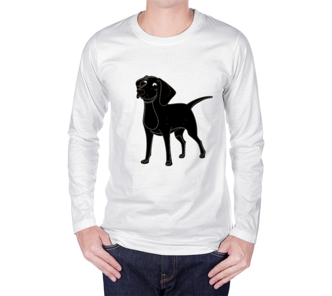 Labrador Retriever black cartoon long sleeve t-shirt preview