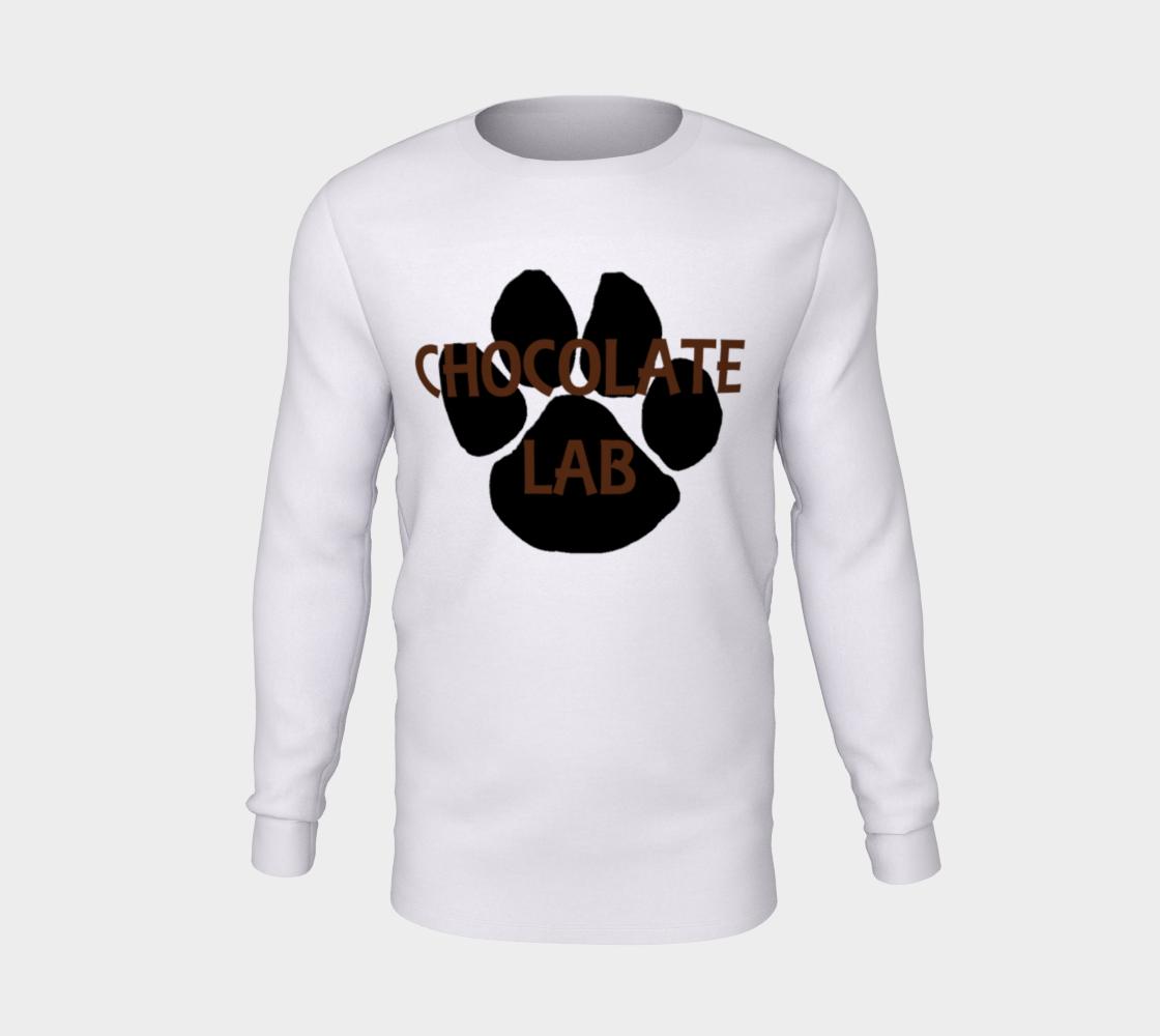 Labrador Retriever chocolate name paw long sleeve t-shirt preview #5