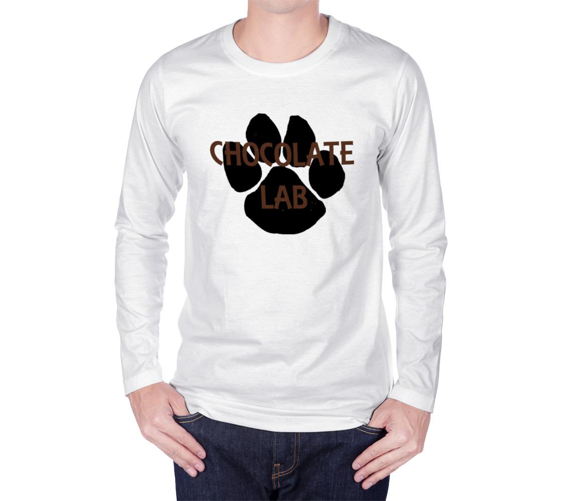 Labrador Retriever chocolate name paw long sleeve t-shirt preview #1