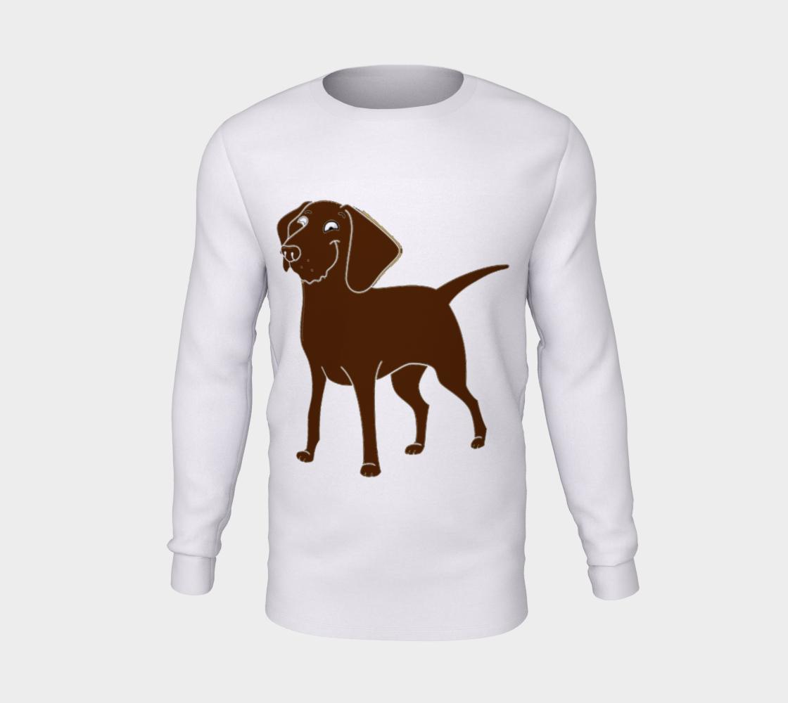 Labrador Retriever chocolate cartoon long sleeve t-shirt preview #5