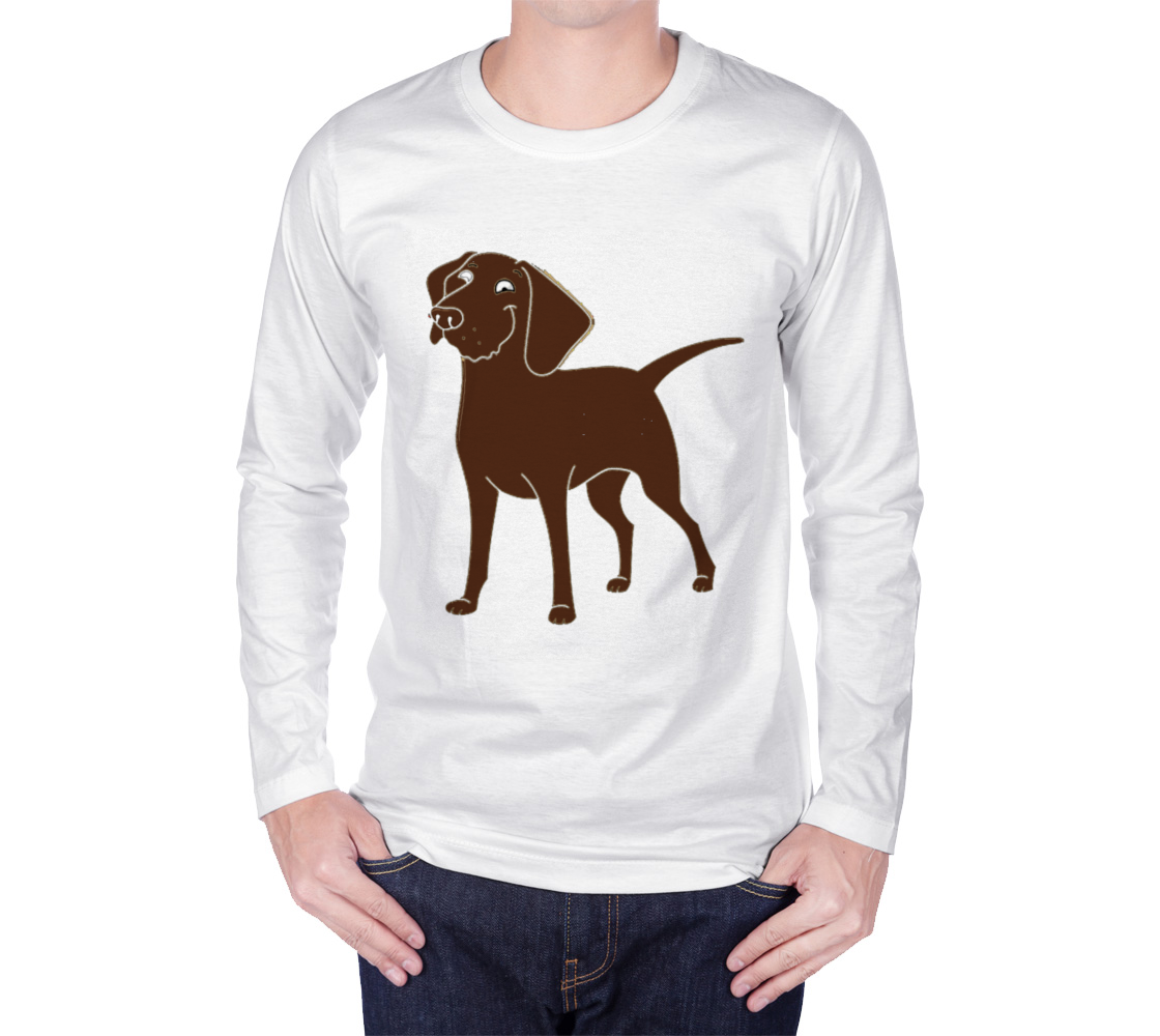 Labrador Retriever chocolate cartoon long sleeve t-shirt preview