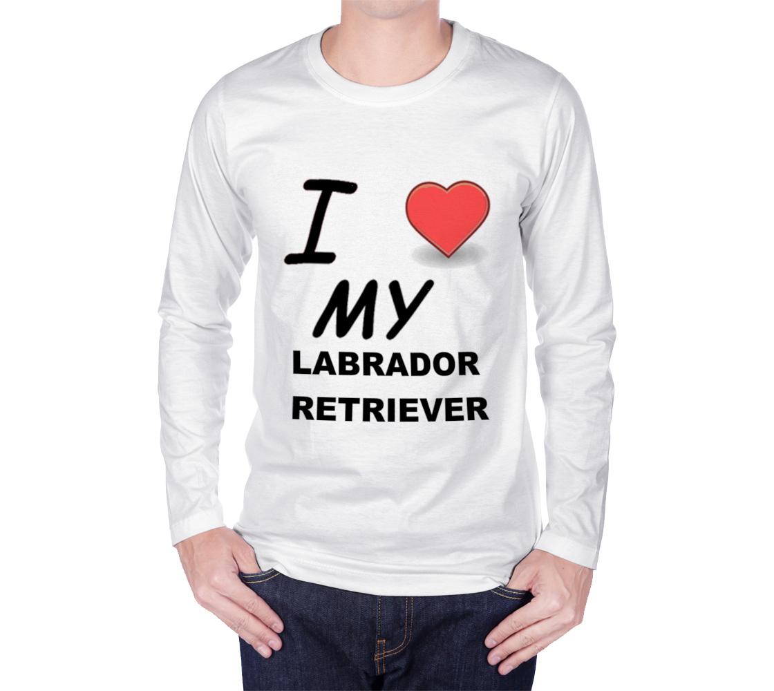 Labrador Retriever love long sleeve t-shirt preview