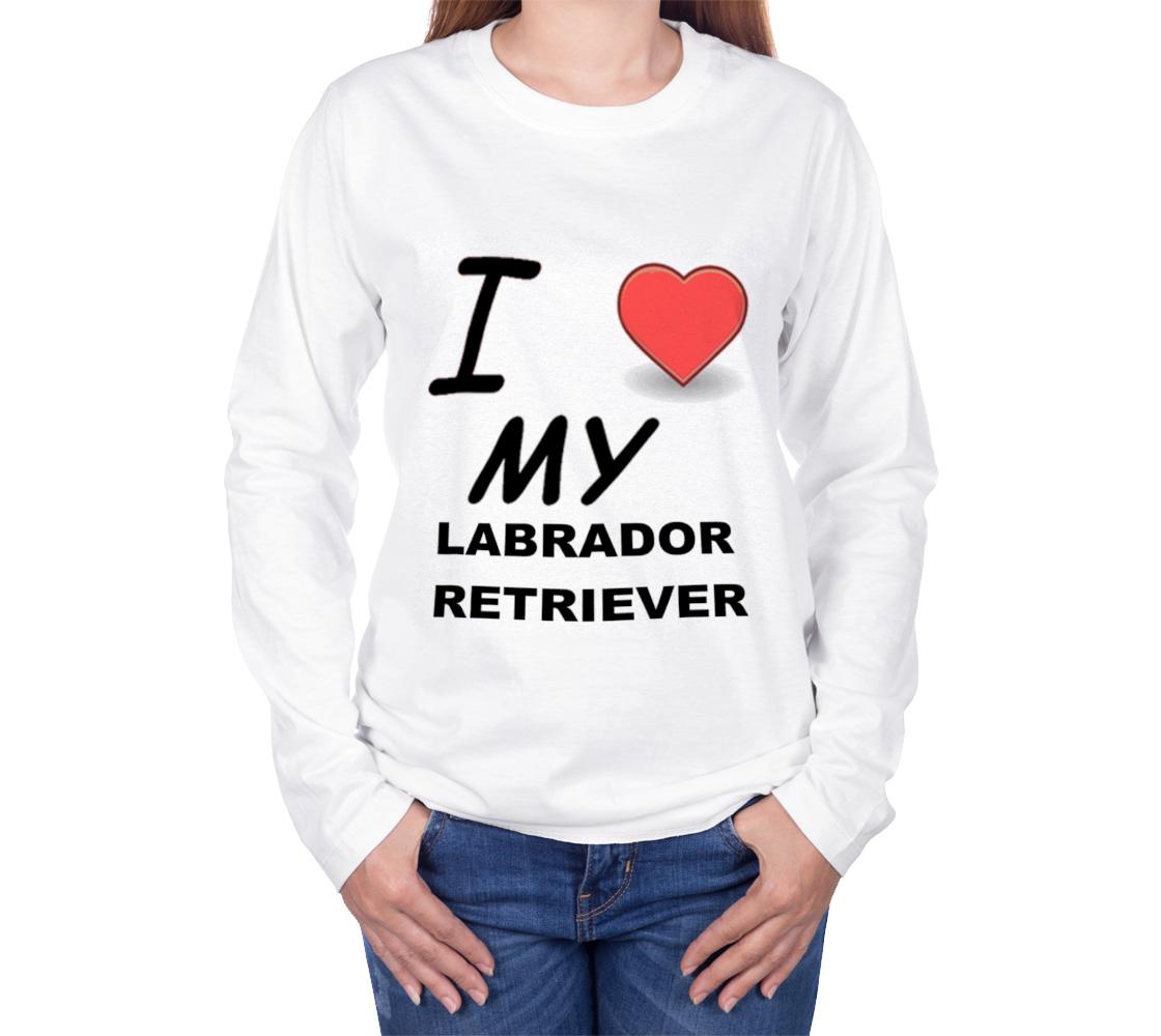 Labrador Retriever love long sleeve t-shirt preview #3