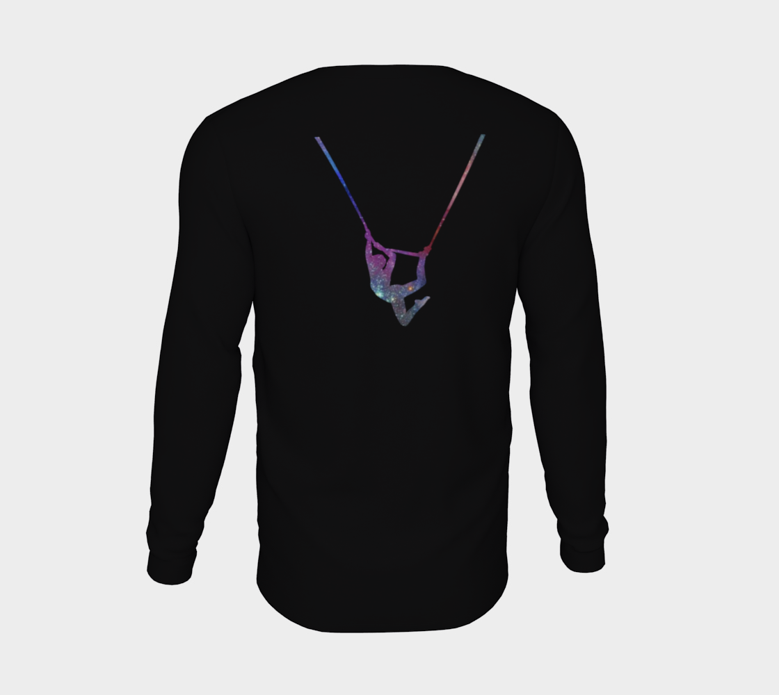 I Can Fly. What's Your Superpower - Aerial Galaxy Long Sleeve Teeshirt preview #6