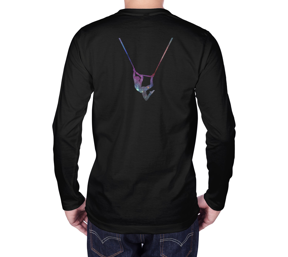 I Can Fly. What's Your Superpower - Aerial Galaxy Long Sleeve Teeshirt preview #2