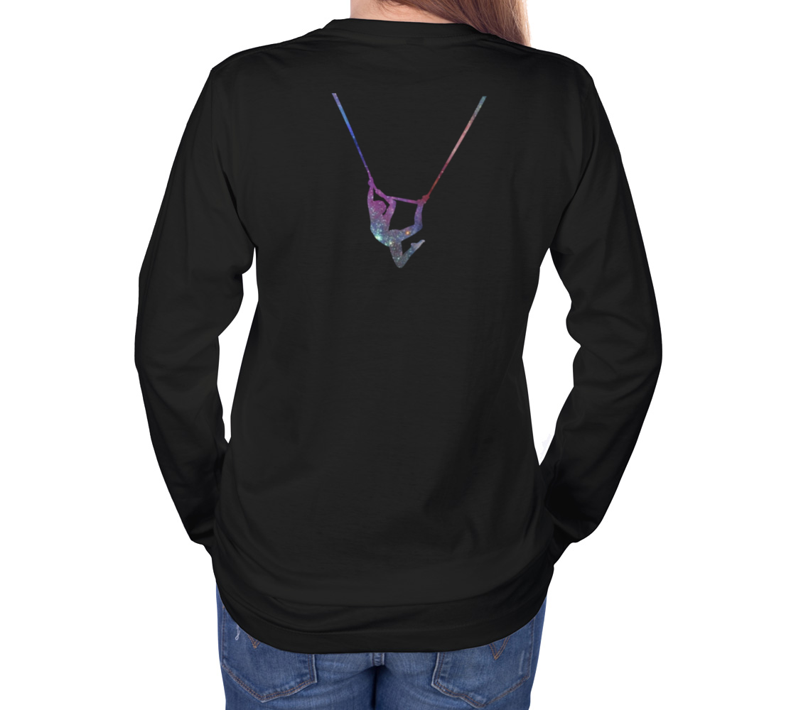 I Can Fly. What's Your Superpower - Aerial Galaxy Long Sleeve Teeshirt preview #4