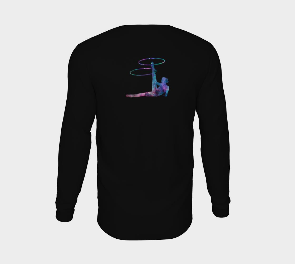 Hula Hoop Galaxy Flow Art Long Sleeve Teeshirt preview #6