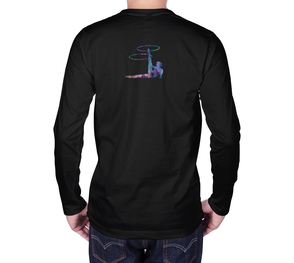 Hula Hoop Galaxy Flow Art Long Sleeve Teeshirt preview #2